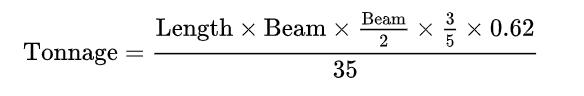 Tonnage Formula